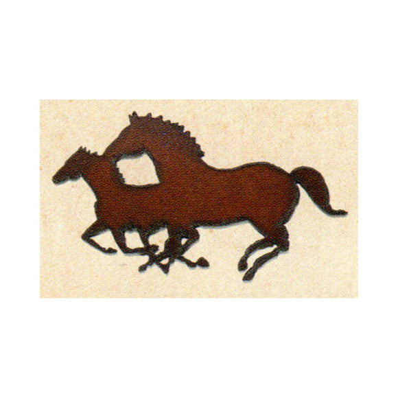 Double Horses Metal Cutout Ornament