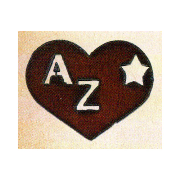 Heart w/AZ  Metal Cutout Ornament