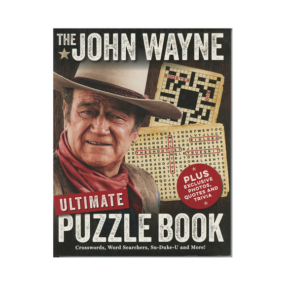The John Wayne Ultimate Puzzle Book Paperback - by Media Lab Books (Author), Editors of John Wayne Magazine (Author), Editors of the Official John Wayne Magazine