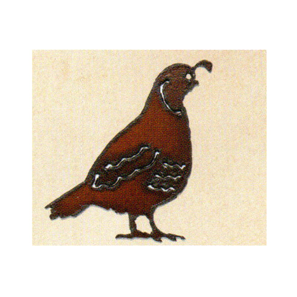 Quail  Metal Cutout Ornament