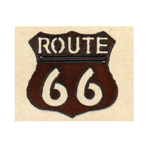 Route 66 Metal Cutout Magnet