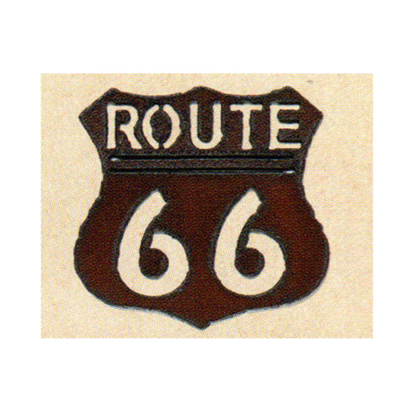 Route 66   Metal Cutout Ornament