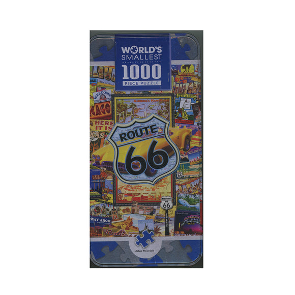 MasterPieces World's Smallest Route 66 1000 Piece Tin Box Jigsaw Puzzle