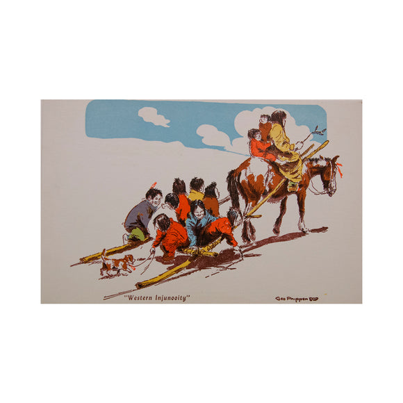 Western Injunooity Post Card by George Phippen