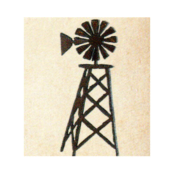 Windmill  Metal Cutout Ornament