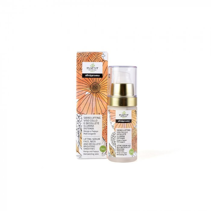 SIERO  LIFTING - VISO COLLO DECOLLETE'   - MANGO E PAPAYA - BIO | 30 ml | COD. 10000098