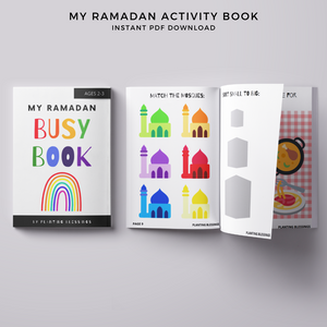 Printable Ramadan Activity Book, Ages 2-3
