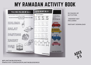 Printable Ramadan Activity Book, Ages 3-5