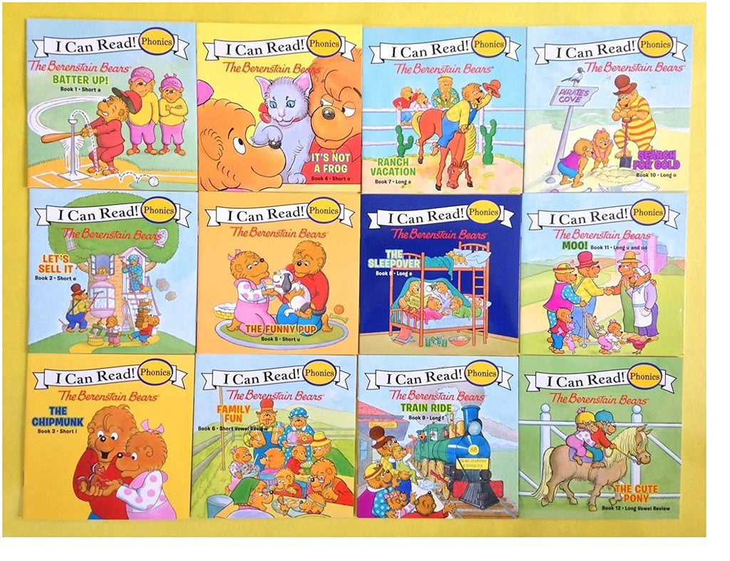 The Berenstain Bears 12-Book Phonics Fun - Includes 12 Mini-Books Featuring Short and Long Vowel Sounds (My First I Can Read)