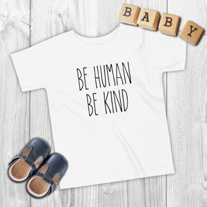 Toddler's 'Be Human, Be Kind' Short Sleeve Tee