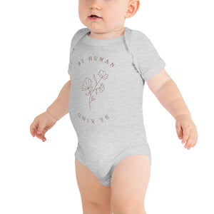 Infant 'Be Human, Be Kind' Floral Onesie