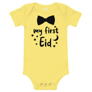 Bow Tie 'My First Eid' Infant Onesie