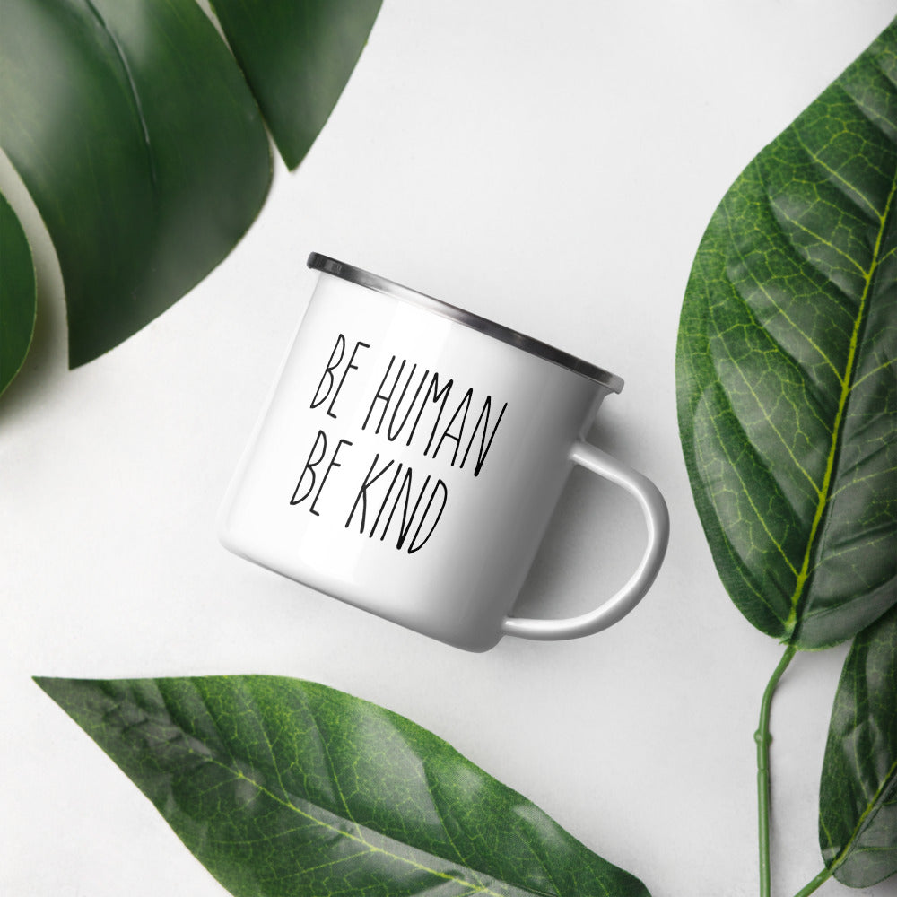 'Be Human, Be Kind' Enamel Mug