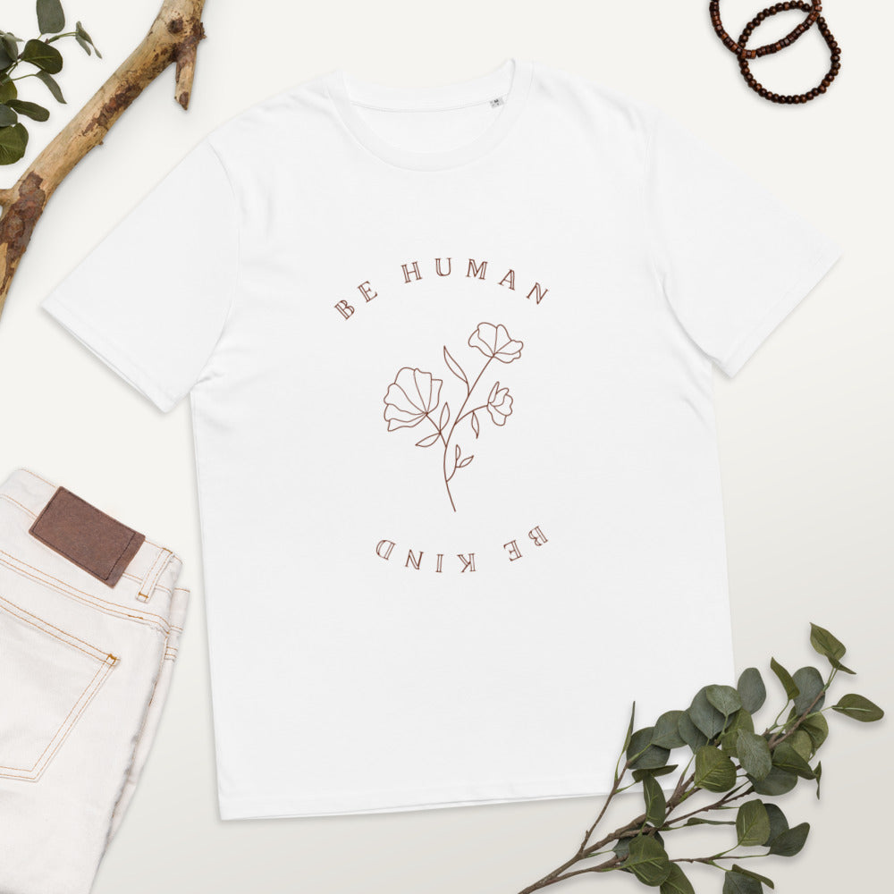 Women's 'Be Human, Be Kind' Floral T-Shirt