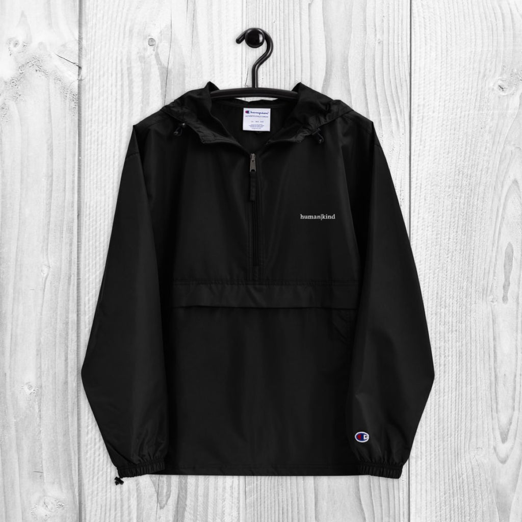 Human|Kind Embroidered Champion Packable Jacket