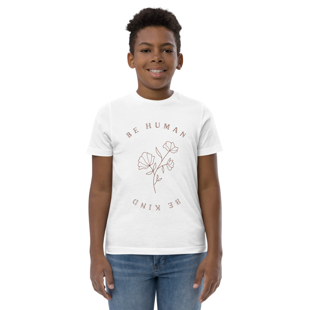 Youth 'Be Human, Be Kind' Floral Jersey Tee