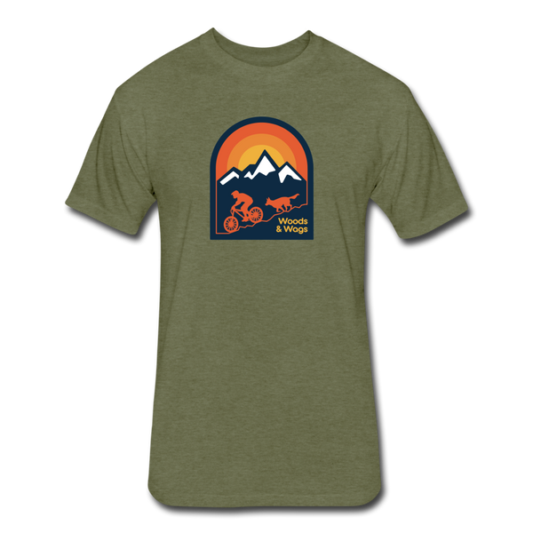 Athletic Fit Cotton/Poly Mountain Bike T-Shirt - heather military green
