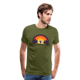 Men's Mountain Bike T-Shirt Standard Fit - olive green
