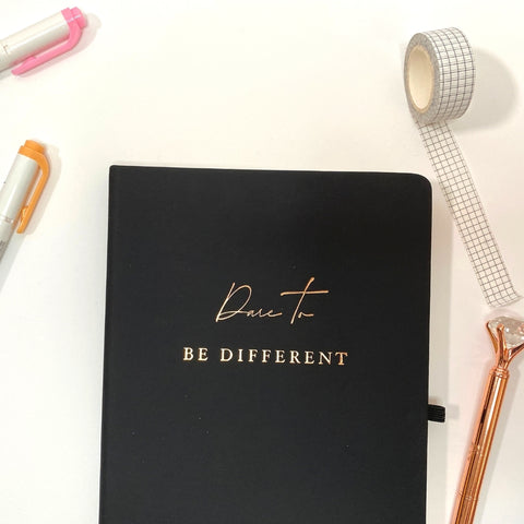 Dare To Be Different Inspirational Notebook