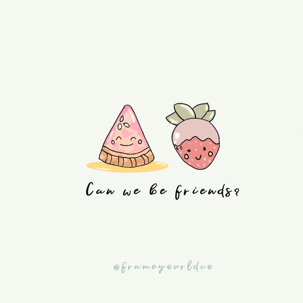 Can we be friends?