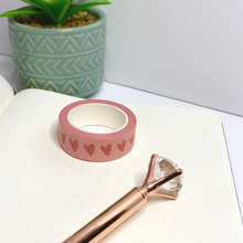 Load image into Gallery viewer, Love heart Washi Tape - Pink Tape