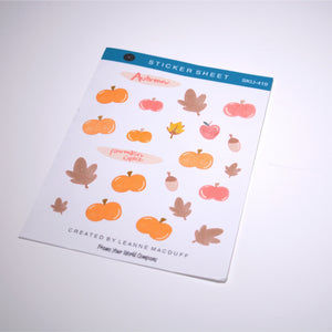 Pumpkin Spice Planner Sticker Sheets