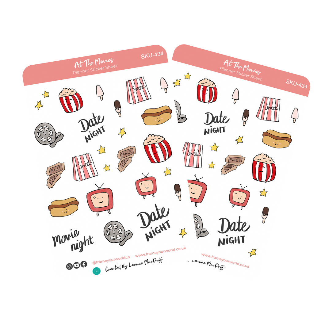 At The Movies Planner Stickers