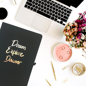 Dream Explore Discover - A5 Notebook