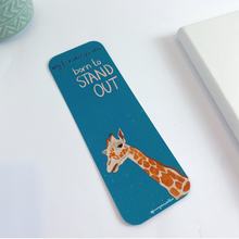 Load image into Gallery viewer, Giraffe Bookmark - Why Fit In When You Were Born To Stand Out Quote
