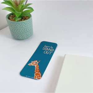 Giraffe Bookmark - Why Fit In When You Were Born To Stand Out Quote
