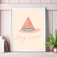 Load image into Gallery viewer, Stay Sweet Watermelon Print