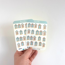 Load image into Gallery viewer, Beach Hut Mini Stickers