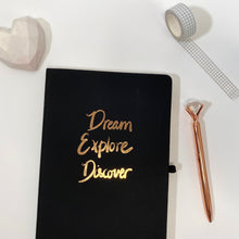 Load image into Gallery viewer, Dream Explore Discover - A5 Notebook