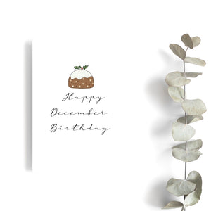 December Birthday Christmas Card