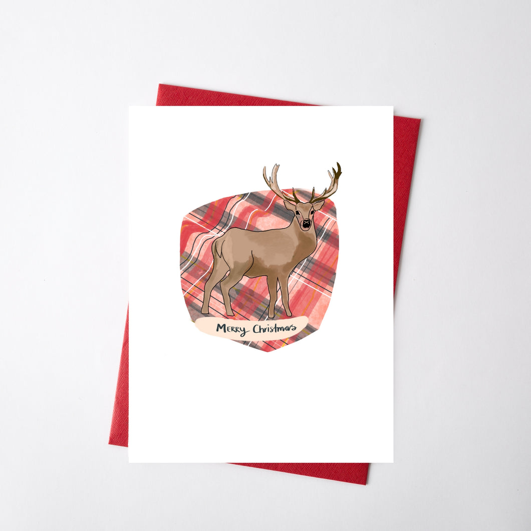 Oh Deer Christmas Illustration Card