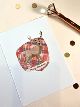 Load image into Gallery viewer, Oh Deer Christmas Illustration Card