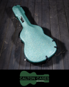 Calton Stratocaster Case, Smooth Sea Green, Gold