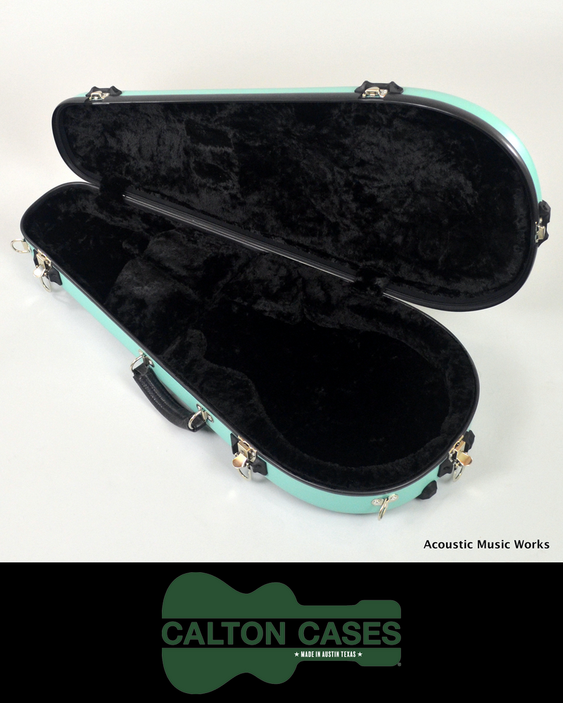 Calton Mandolin Case, Sonic Blue, Black