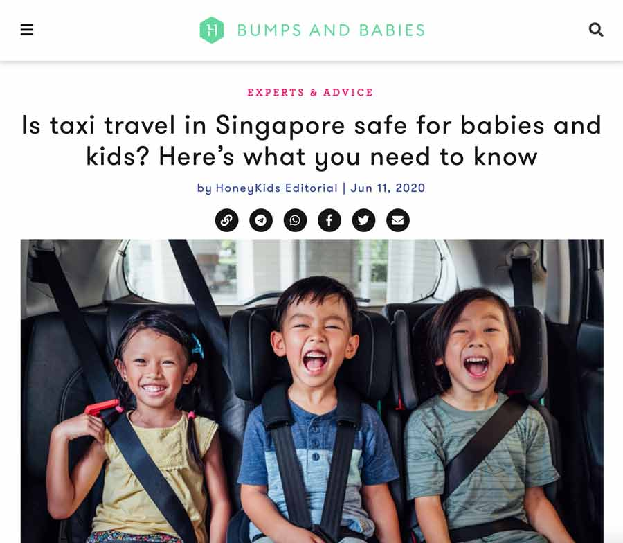 HoneyKids Asia Feature Taxi Car Seats