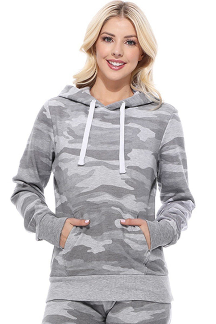 Light Gray Camo Fleece Sweatshirt
