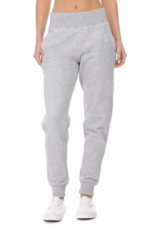 Light Gray Fleece Lined Jogger