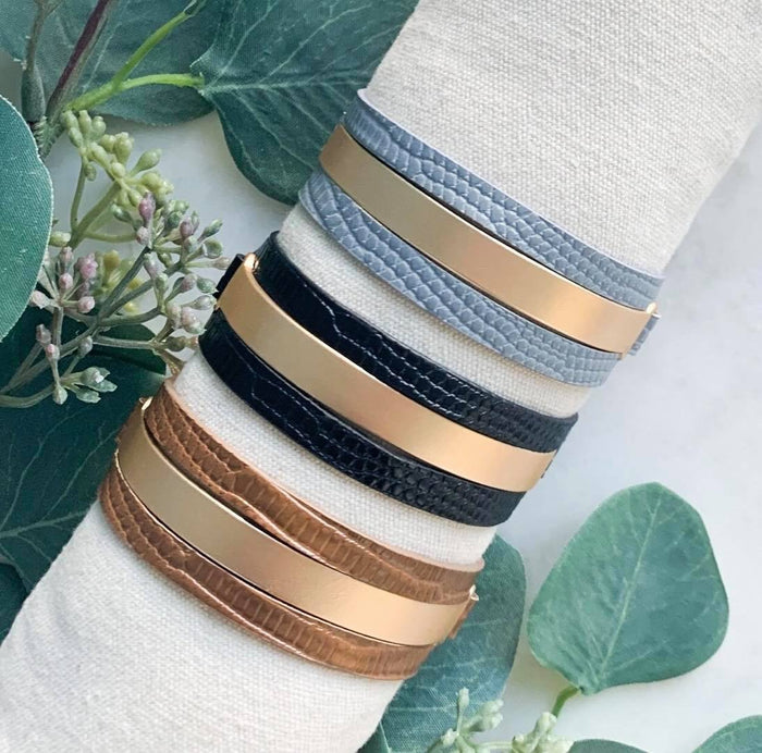 Leather Magnetic Bracelet- 3 Colors Available