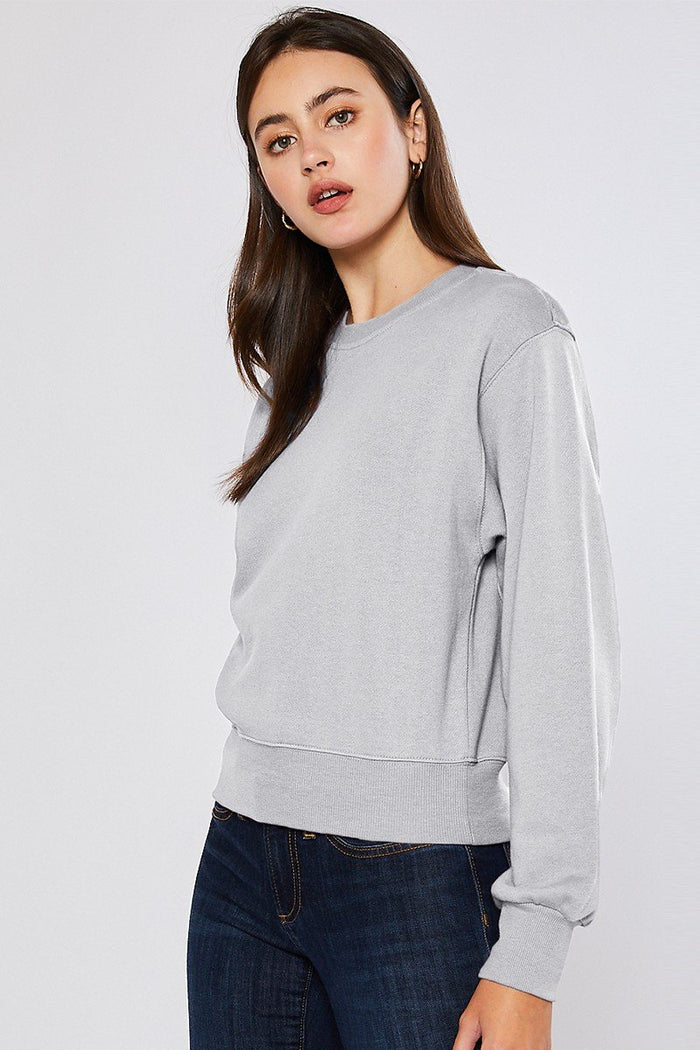 Light Gray Fleece Sweatshirt