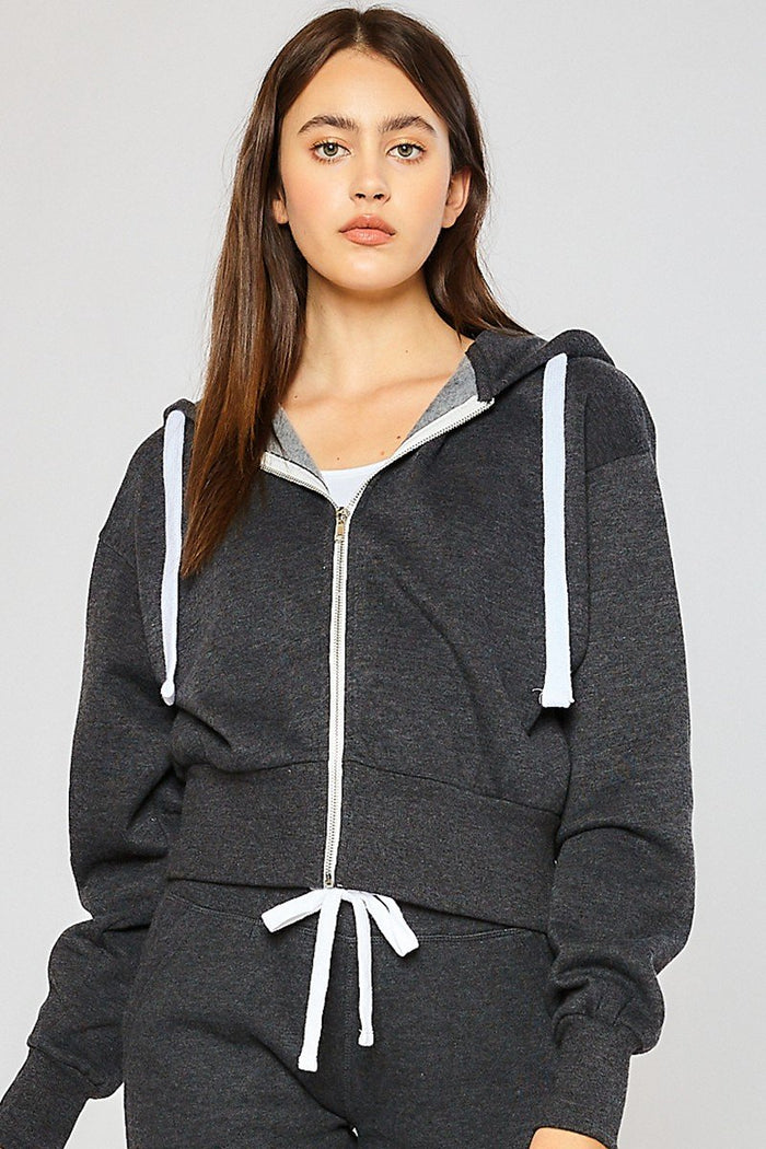 Charcoal Fleece Zip Up