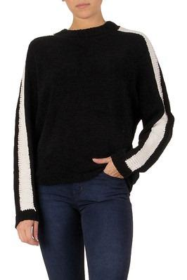 Black Sweater w/ White Stripe