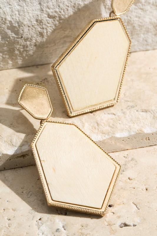 Wood Earring- 4 Colors Available