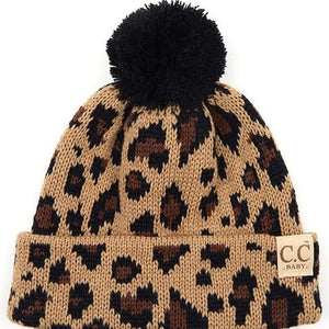 Baby/Toddler Leopard Beanie- 4 Colors