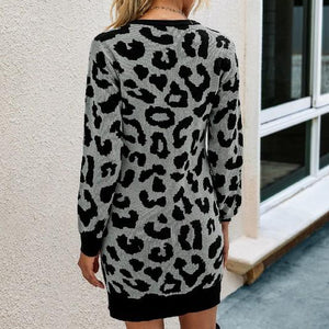 Cheetah Print Sweater Dress