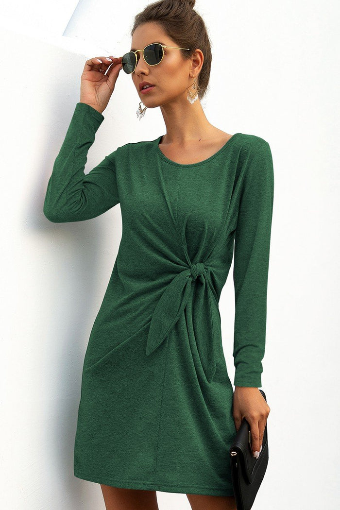 Green Tie T-Shirt Dress