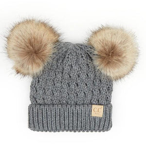 Kids Pom Beanie- 5 Colors Available